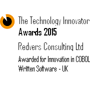 Redvers Consulting were awarded for Innovation in COBOL Written Software in 2015 and for Innovation in COBOL Software & Best Use of Technology in 2016, in the Technology Innovator Awards.